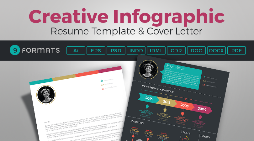 creative-infographic-resume-template-with-cover-letter-feature-image