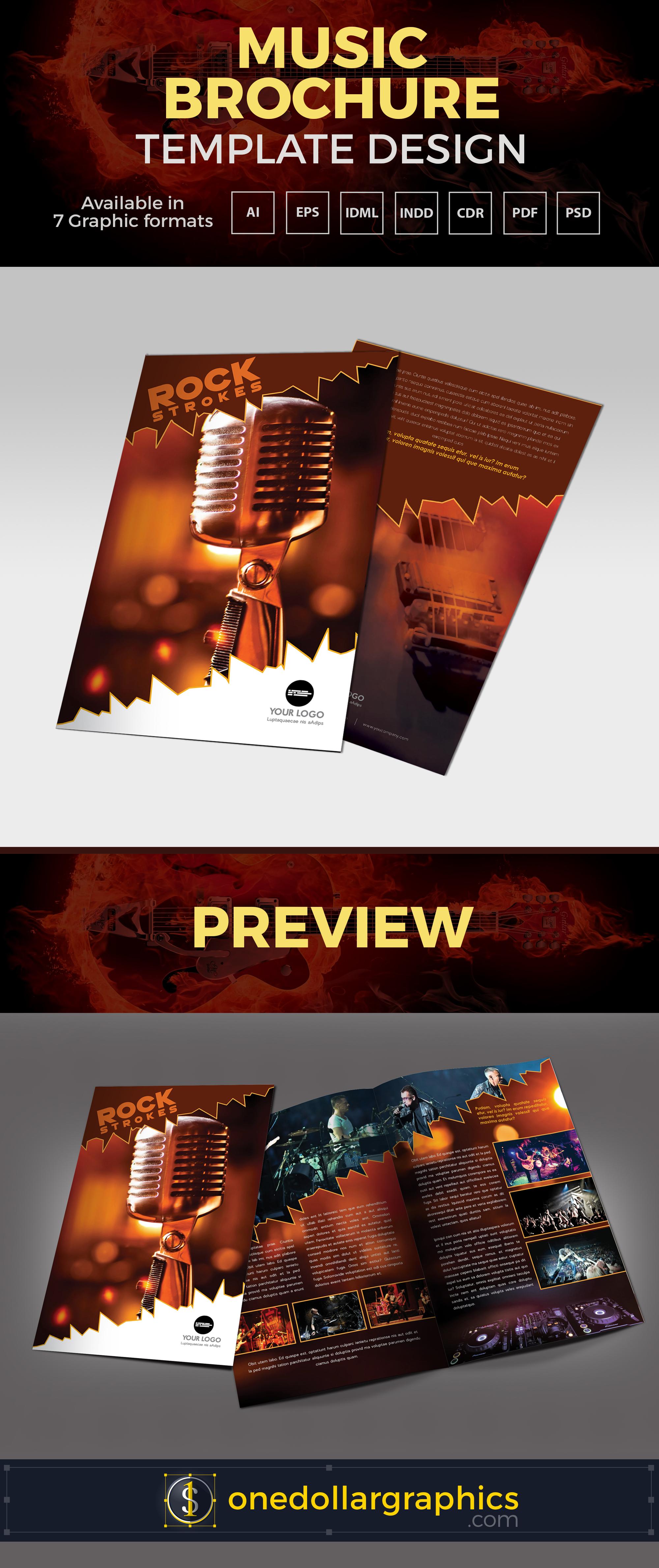 A4 Music-brochure-template-design