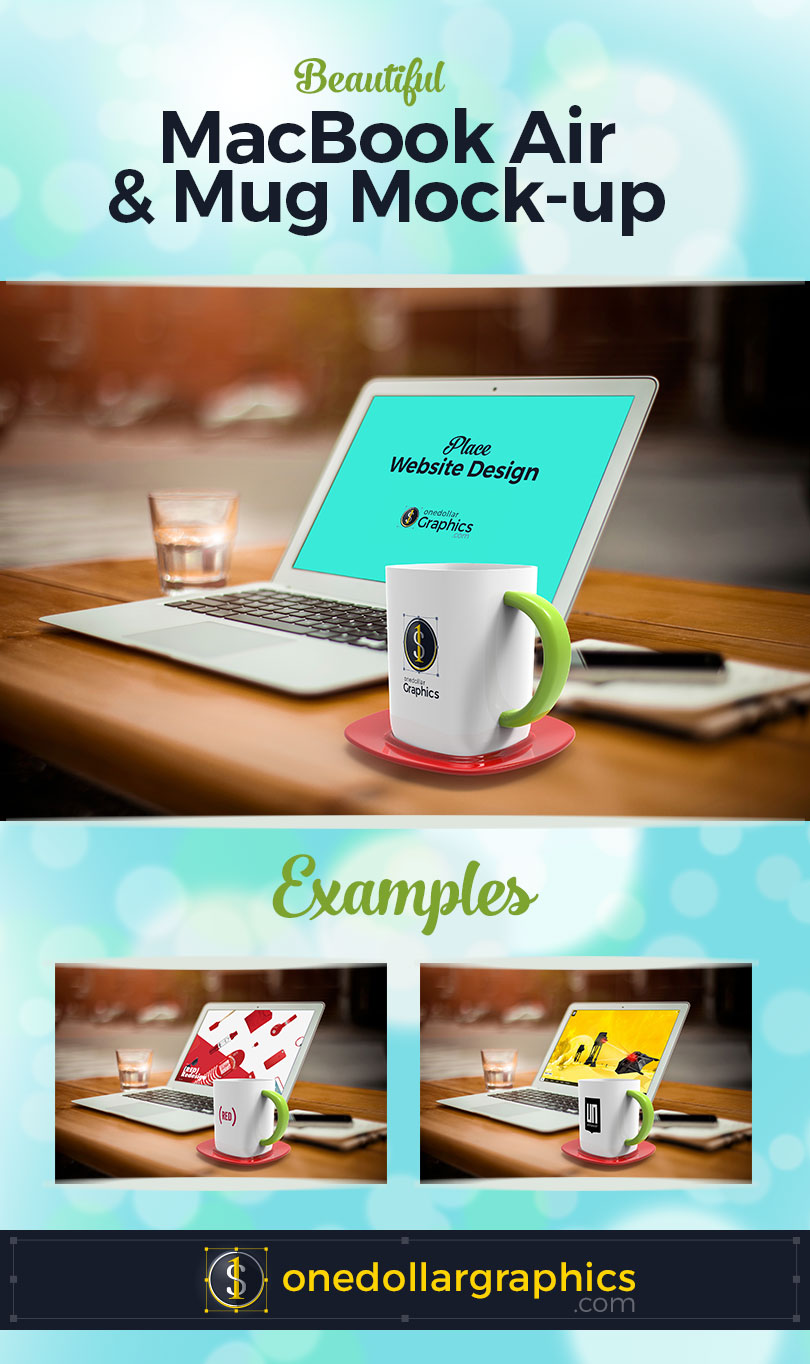 Apple-MacBook-Air-&-Mug-Mock-up-PSD-2