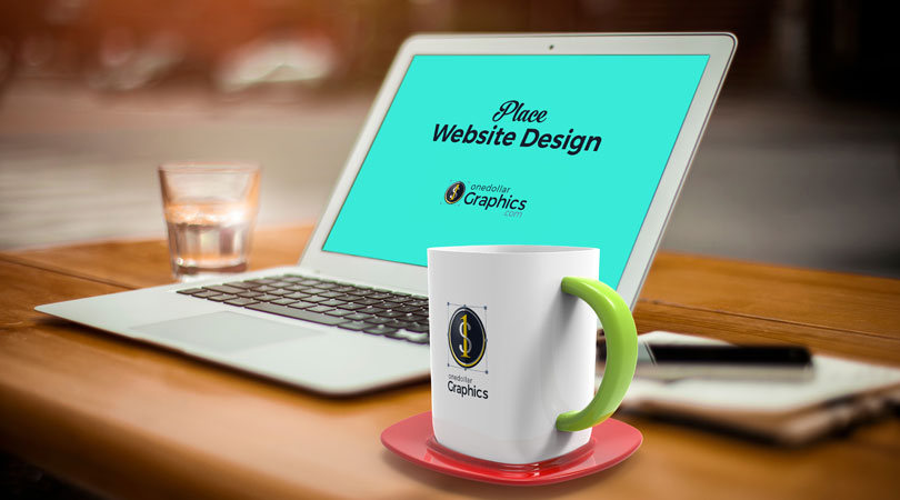Apple-MacBook-Air-&-Mug-Mock-up-PSD