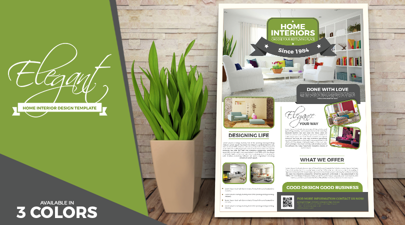 elegant home interior flyer design templates