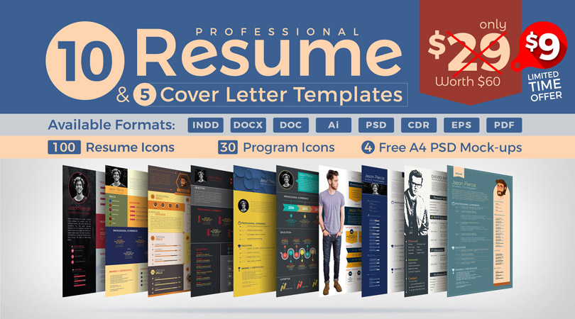 10 Resume Designs U0026 Cover Letter Templates Deal   Resume Deal