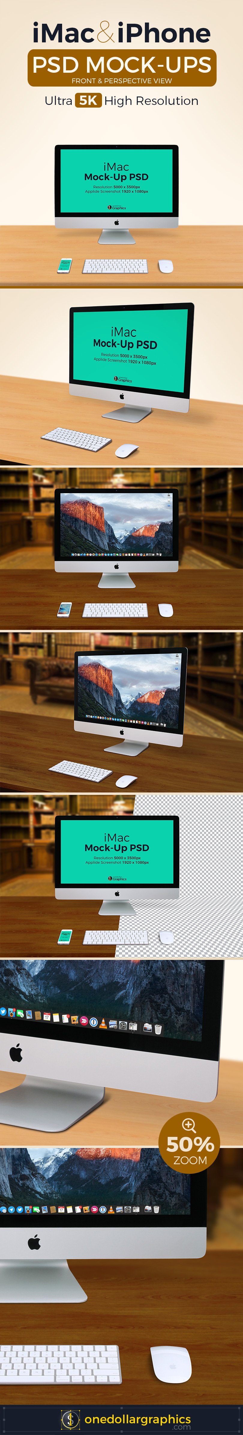 5k iMac Photo PSD Mock-Ups With Custom Background 3