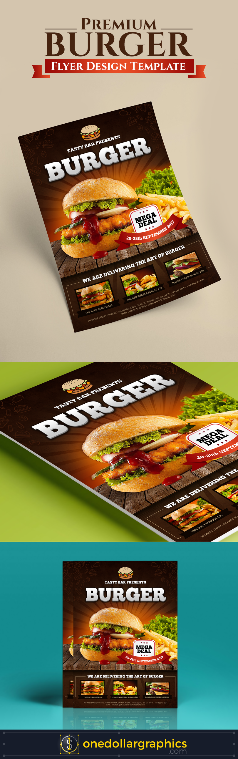 Premium-Burger-Flyer-Template-Design