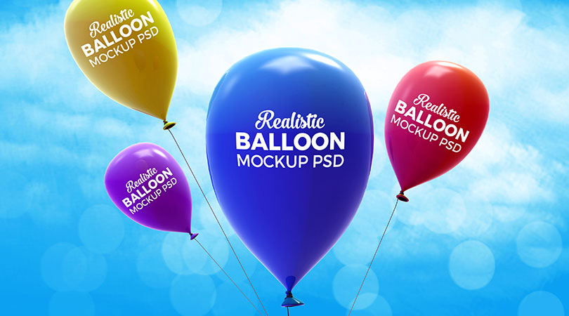 Realistic Balloon Mock-up PSD (4)