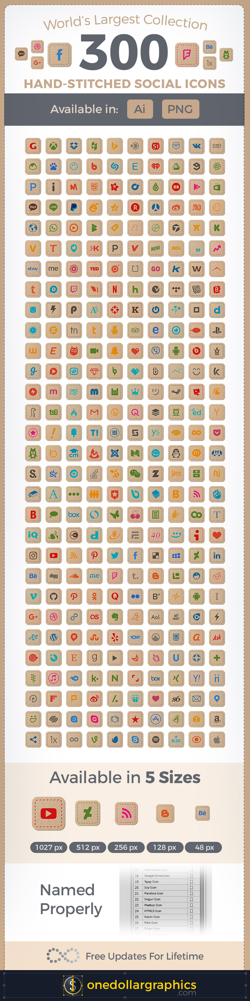 300-Hand-Stitched-Premium-Social-Media-Icons-For-Art-&-Craft-Websites