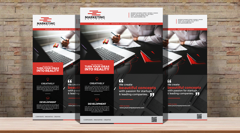 Corporate Business Marketing Flyer Design Template