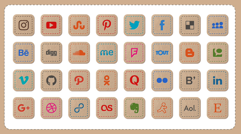 Hand-Stitched-Premium-Social-Media-Icons-For-Art-&-Craft-Websites