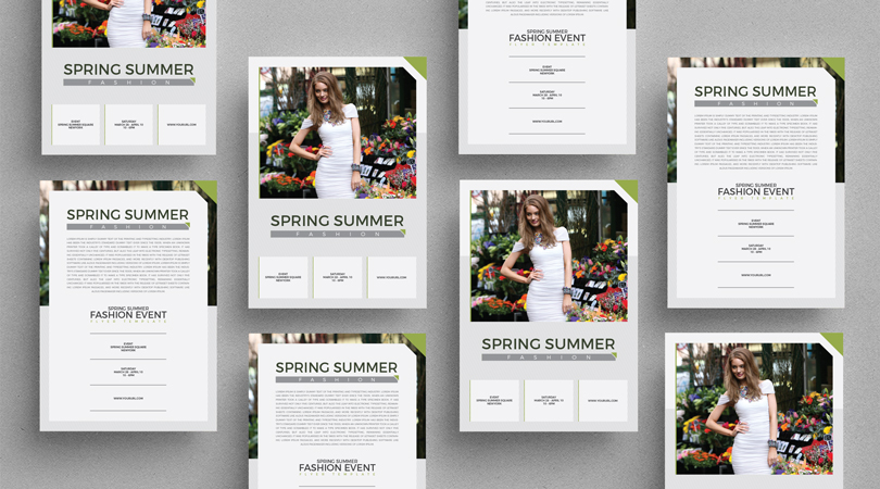 Spring summer fashion event flyer template maxwellsz