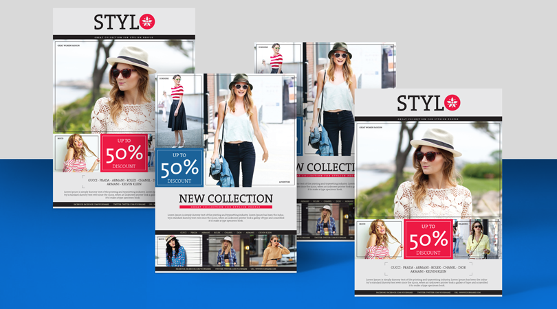 Stylo Fashion Flyer Design Templates