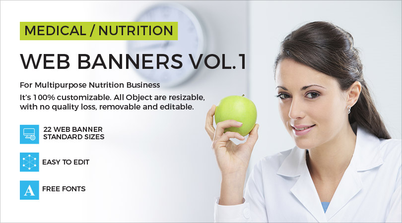 Medical & Nutrition Advertising Web Ad Banners
